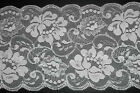 """6"""" 150mm wide Ivory Floral Lace Choice of Length 1 2 or 5 metres or Sample"""