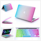 "2in1 Rainbow Rubberized Case Keyboard Cover For Macbook Air 11""13/Pro 13""15""inch"