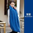 Women Knitted Crochet Scarf Snood Neck Warmer Shawl Stole Wrap Loop Braided New