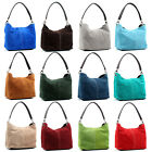 LADIES REAL ITALIAN SUEDE LEATHER SMALL LARGE SHOULDER HANDBAG TOTE BAG