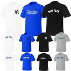 Newyork NY Yankees Mens Womens Crewneck Baseball Tshirts Jersey Casual Top Tee