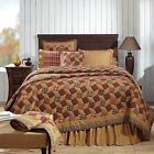 Napa Valley Magic Square Patchwork Quilt California, King, Queen Twin Red & Tan