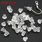 Lots 500Pcs Rubber Earring Back Stoppers Ear Post Nuts Earring Findings 4MM New