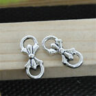 30pcs Tibetan Silver Lovely Bow Charms Pendants Jewelry Finding 15*6mm 0461 Hot