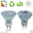 4/10x GU10 SMD 3W 5W LED Bulbs Day/ Warm White Light Spot Lamp Glass Cover UK