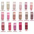 "25y 50y 100y 9mm 3/8"" Pink Shades Premium Double Sided Satin Ribbon Wedding Eco"