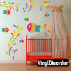 Colorful Fish and Sea Life Wall Decal- Nursery Room Decor - AnimalWallKitID009EY