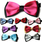 Pre tied Mens Clip-on Tuxedo Classic Adjustable Wedding Party Bowtie Bow Tie