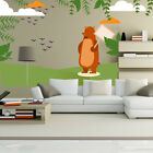 Brown Bear Clouds Decal Kit - Room Decor - Wall Fabric - AnimalWallKitID0017EY