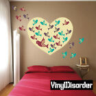Heart With Birds Decal Kit - Room Decor - Wall Fabric - AnimalWallKitID0019EY