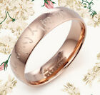 Men Women Lord of the Dome Rose Gold Promise Wedding Ring GMUS084 Z2