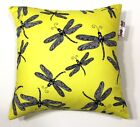 NEW BRIGHT YELLOW DRAGON FLY BOYS SCATTER CUSHION COVER DECORATIVE THROW PILLOW