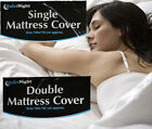 WATERPROOF PROTECTIVE FITTED MATTRESS SHEET COVER BED TOPPER SINGLE DOUBLE CLEAN