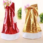 Bright Cloth Cap Christmas Holiday Party Santa Claus Red or Gold Hat Gifts Adult