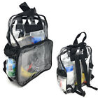 Clear Transparent Backpack Book Bag School Stadium Security TSA Rally 3 Pockets