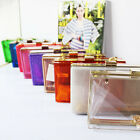 Women Transparent Acrylic Perspex Clutch Clear Purse Evening Handbag Tote