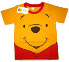 DISNEY POOH Boys orange cotton summer t-shirt Size S-L Age 2-5 yrs Free Ship