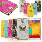 Bling Leather Butterfly Case Cover For Samsung Galaxy Note 3 III N9000 Tide