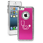 For iPhone 4 4s 5 5s 5c 6 6s Plus Rhinestone Bling Case Heart Stethoscope Nurse