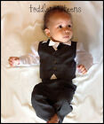 Baby Boy Christening Pageboy Formal Party Smart Suit Outfit Waistcoat Grey Gray