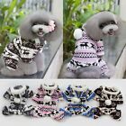 4 Colors Snow Patetrn Warm Winter Soft Hoodie Coat Clothes Costume Pet Dog Puppy