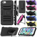 Hybrid Outer Armor Box Case Cover w/ Belt Clip Holster & Stand For iPhone 6 Plus