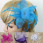 Hot Fashion Hat Cap Feather Bowknot Fascinator Wedding Party Hair Clip 7 Colors