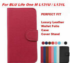 For BLU Life One M L131U / L131L Luxury PREMIUM Leather Wallet Case Cover Stand