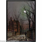John Atkinson Grimshaw picture print night glasgow november spirit winter