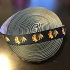 "7/8"" Chicago Blackhawks Black Grosgrain Ribbon by the Yard (USA SELLER!) $9.55 USD on eBay"