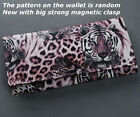 Eye Catching Lady Tiger Leopard Print Long Wallet Coin Bag Card Hold Clutch FOUK