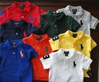 NWT Ralph Lauren Toddler Boys S/S Big Pony Solid Mesh Polo Shirts 2t 3t 4t NEW