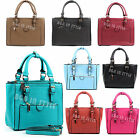 Ladies Designer Style Multi Pocket Large Briefcase Women Satchel Laptop Tote Bag
