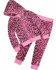 Juicy Couture Girl's Pink Leopard Fashion Jogging Set, Size 4T, 5, 6