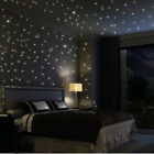 Fuloon Huge Set Wall Decals Glow In The Dark Stars Moon Stellar Wall Stickers