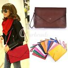 Women PU Envelope Clutch Shoulder Bags Messenge Tote Purse Handbag Bag Wallet