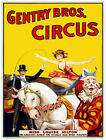 4743.Gentry Bros. circus.clown.magician.horse.POSTER.Decoration.Graphic Art