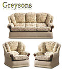 NEW ASCOT HIGH BACK FABRIC SOFA SETTEE / 3 PIECE SUITE / 3 SEATER / ARMCHAIR