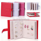 Folding Book PU Leather Jewelry Earrings Ear Stud Stand Holder Storage Organizer