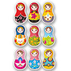6 x Small Russian Doll Vinyl Sticker iPad Laptop Girls Pretty Ski Fun Gift #4467