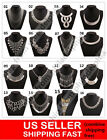 Hot New Fashion silver Pendant Statement Bib Chunky Charm Choker Necklace
