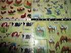 2 X A4 Non Die Cut Decoupage Farm Animals Horses, Cow, Sheep Or Chickens