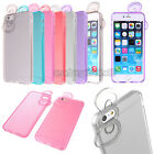 Bowknot Thin Slim Crystal Clear Soft Back Case Skin Cover for iPhone 6 / 6 Plus