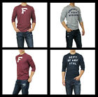 New Abercrombie A&F by Hollister Men HERITAGE LOGO Graphic Tee Long Sleeve Shirt