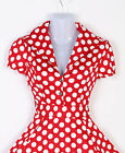 Vintage Pin Up Rockabilly 50s Retro Evening Ball Gown HOUSEWIFE Party Tea Dress