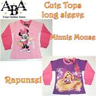 Minnie Mouse or Rapunzel long sleeve tops, t shirt