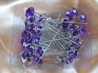 10 Large Headed 12 mm Diamante Crystal Pin - BUY 2 SETS - GET 1 FREE
