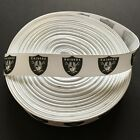 "7/8"" Oakland Raiders Grosgrain Ribbon by the Yard (USA SELLER!) $4.95 USD on eBay"