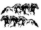 Running Horses Car Decals Truck or Trailer Stickers