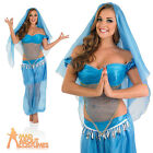 Adult Arabian Princess Costume Sexy Belly Dancer Fancy Dress Womens Genie Outfit
